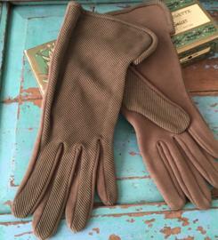 Bruine dikkere vintage handschoenen