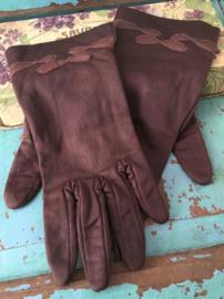 Bruine vintage handschoenen
