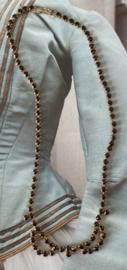 Donkerrode  strass ketting