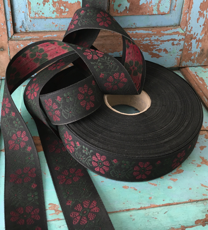 Vintage bloemenband  (verkoop per meter)