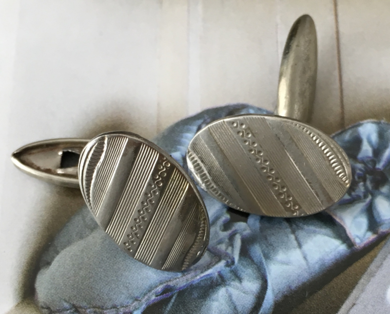 Vintage ovale manchetknopen