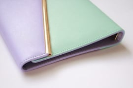 Leather Peony Planner 100 days Lavender & Mint