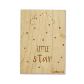 Little Star - Houten kaart