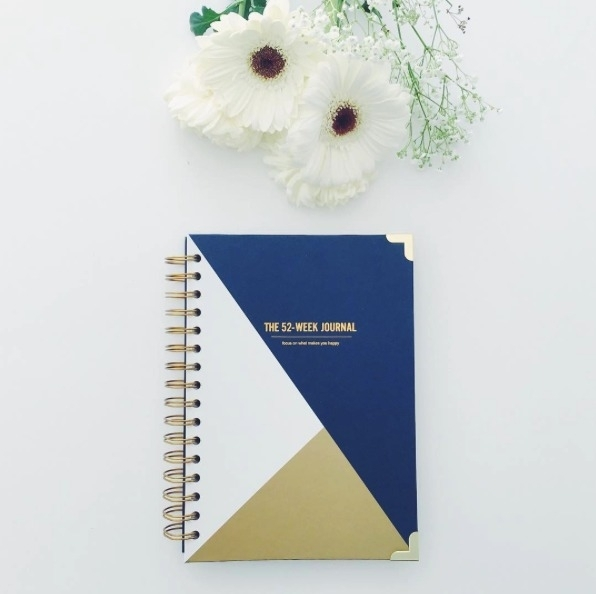 52-week Happiness journal Navy