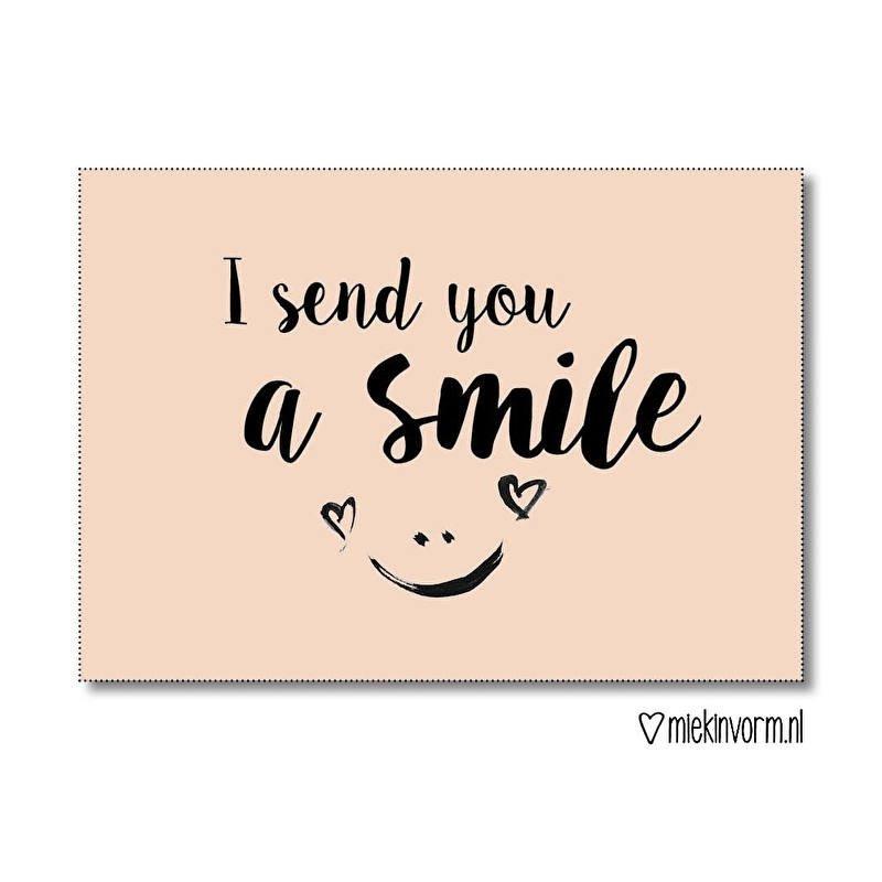 I send you a smile - Kaart