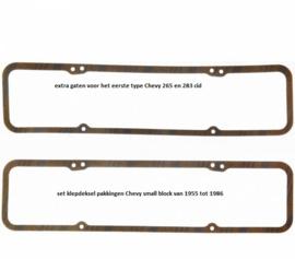 kleppendeksel pakkingen Chevy 283- 400 cid van 1957 t/m 1985