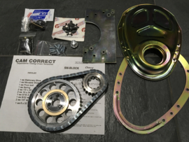Chevy small block Cam Correct timing set inclusief cover