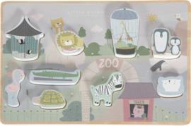 Little Dutch - vormenpuzzel dierentuin