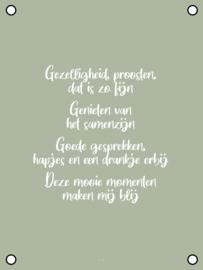 Tuinposter - Gezelligheid & Proosten - Groen
