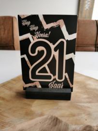 Luxe kaart A6 - 21 jaar - Rossi Cards