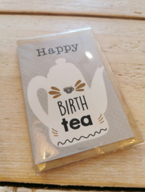 Thee in een kaartje -Happy birthtea