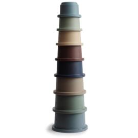 Mushie stapeltoren - Blauw