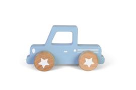 Houten auto blauw - Little Dutch