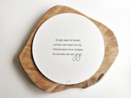 Muurcirkel - Het mooiste lichtje dat ben jij - 20cm - LiMo Products