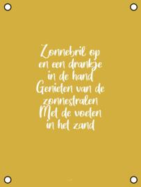 Tuinposter - Zonnebril op - Geel