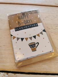 Thee in een kaartje - Happy B-day