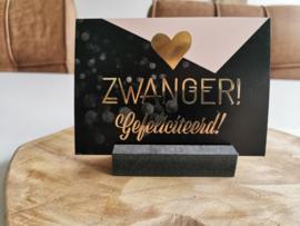 Luxe kaart A6 - Zwanger - Rossi Cards