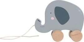 Little Dutch - Houten trekdier olifant