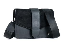 Manhattan Zwart schoudertasje