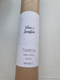 Tuinposter wine & sunshine