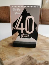Luxe kaart A6 - 40  jaar - Rossi Cards