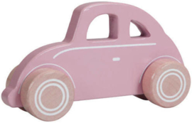 Houten auto roze - Little Dutch
