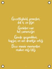 Tuinposter - Gezelligheid & Proosten - Geel