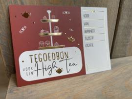 Tegoedbon - High Tea - Wijnzinnig