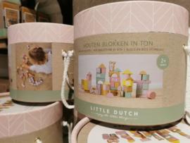 Little Dutch - Blokkenton Roze