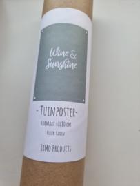 Tuinposter wine & sunshine geel