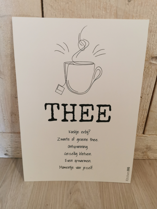 Kitchen105 - Poster Thee A4