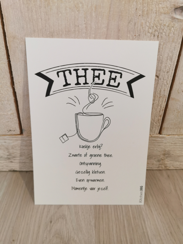 Kitchen105 - Mini Poster thee A5