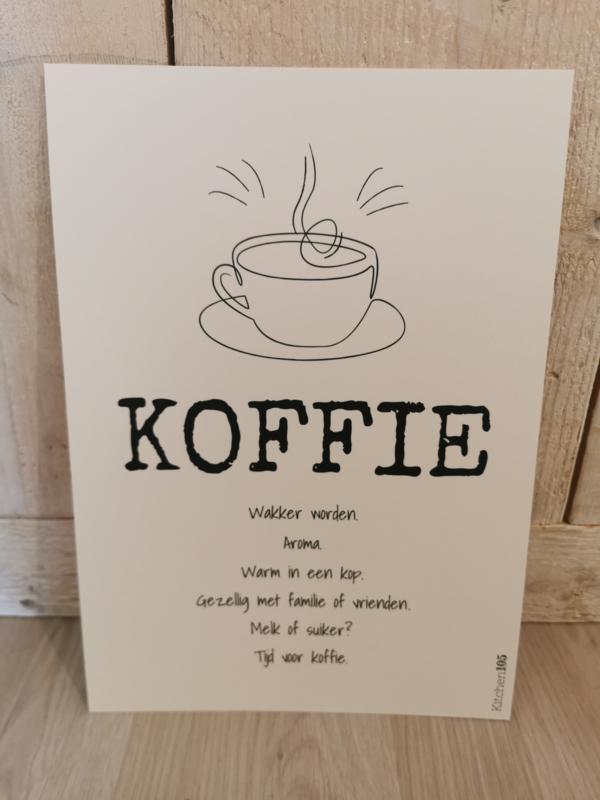 Kitchen105 - Poster Koffie A4