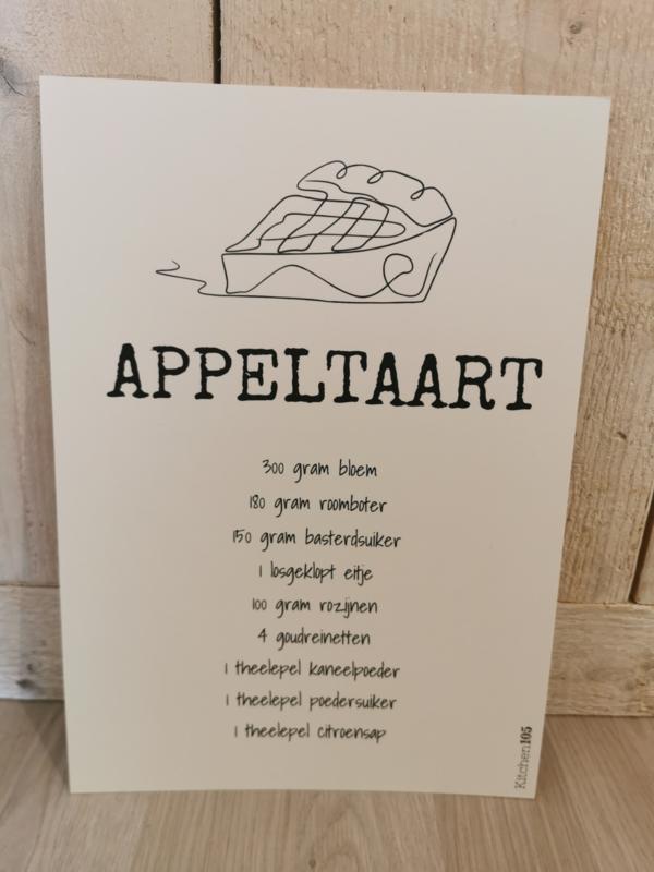 Kitchen105 - Poster Appeltaart A4