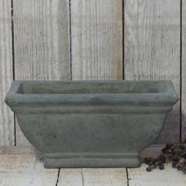 Langwerpig stenen pot