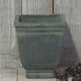Vierkant stenen pot S