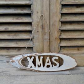 Berkenschijf Merry Christmas