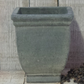 Vierkant stenen pot M