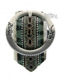 Rove Belt Bracelet Cow Green