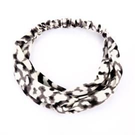 Haarband Luipaard Grijs