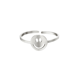 Ring Smiley Zilver