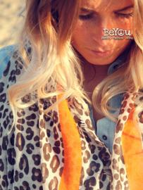 Cougar Stripe Shawl Orange Brown