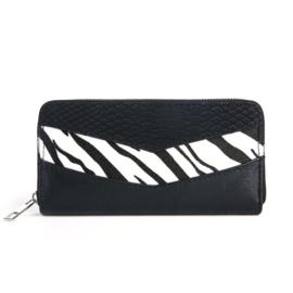 Portemonnee Zebra Zwart