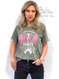 T-Shirt Rock Groen