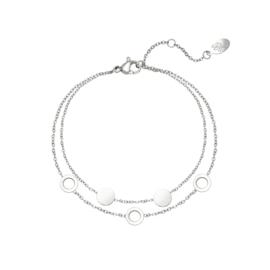 Armband Cirkels Zilver
