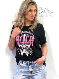 T-Shirt Rock Zwart