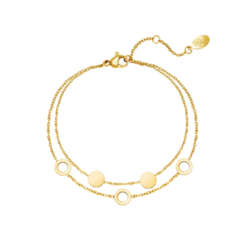 Armband Cirkels Goud