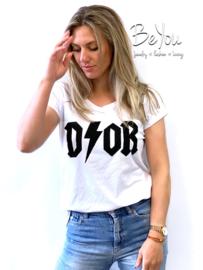 T-Shirt Melody Wit Zwart