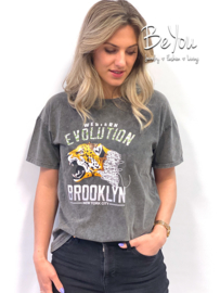 T-Shirt Brooklyn Grijs