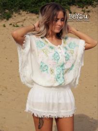 Tuniek Ibiza Embroidery White